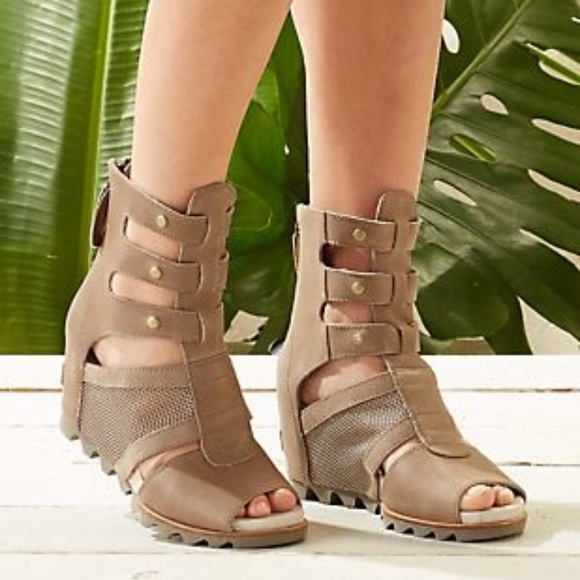 3e8961ceaf79 Sorel Joanie gladiator wedge sandals tan nude. M 5a99e47885e605f21325ac08